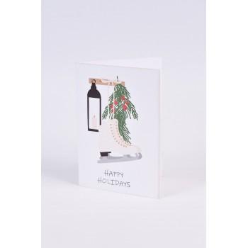 Χριστουγεννιάτικες κάρτες  2 σχεδίων Νο4    10.5X15CM