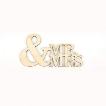 Ξύλινο Mr and Mrs