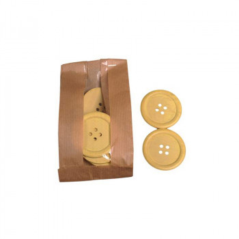 Wooden Buttons Yellow