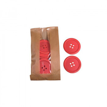 Wooden Buttons Red