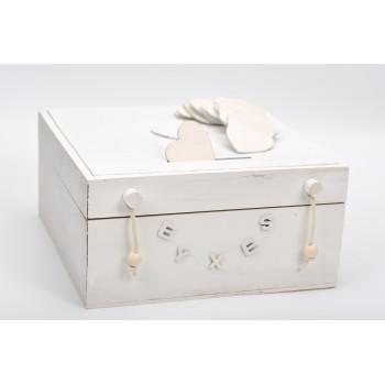 Κουτί ευχών λευκό 30x30cm