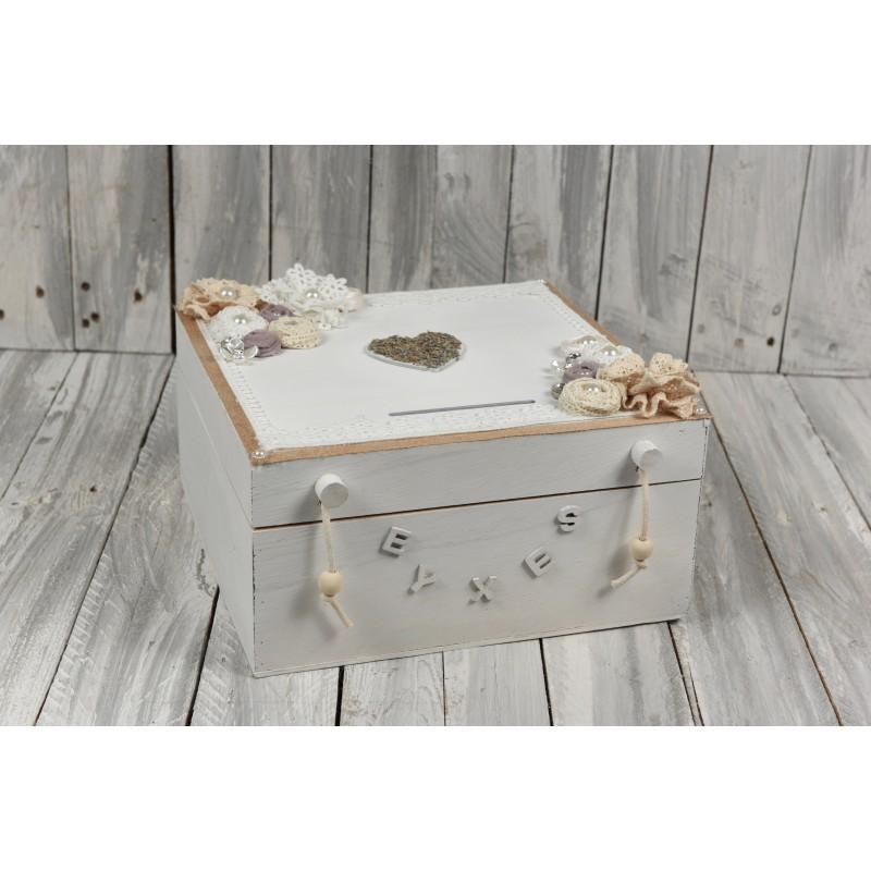 Κουτί ευχών στολισμένο λεβάντα 30x30cm