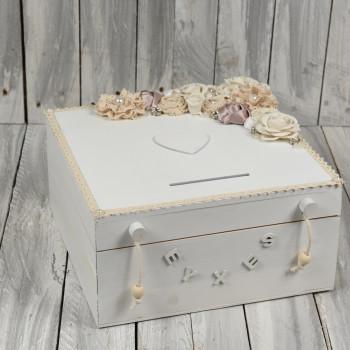 Κουτί ευχών στολισμένο 30x30cm