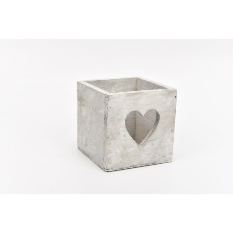 Ξύλινο κουτί καρδιά