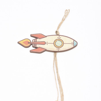 Ξύλινο διαστημόπλοιο πύραυλος   6X40CM