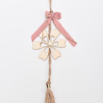 Κρεμαστή μπομπονιέρα λουλούδι με πέρλα