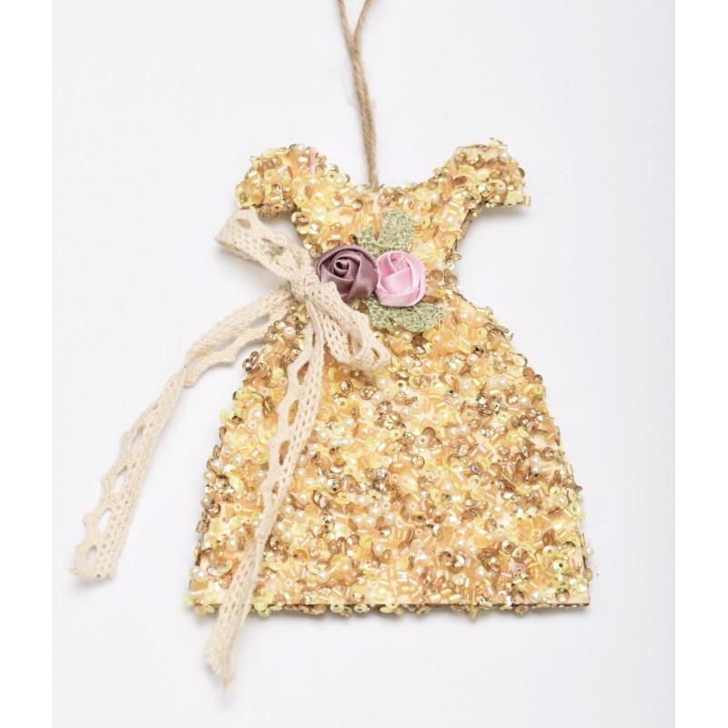 Ξύλινο φορεματάκι χάντρα