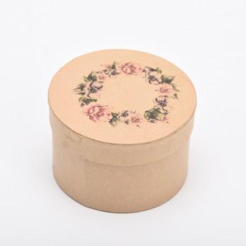 Κουτάκι στρόγγυλο στεφάνι λουλουδιων