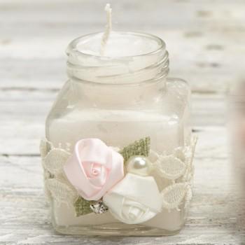 Βαζάκι κερί στολισμένο
