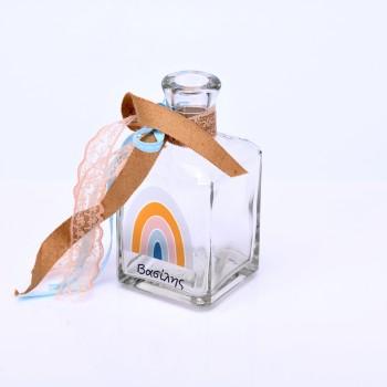 Μπουκάλι με τύπωμα ουράνιο τόξο
