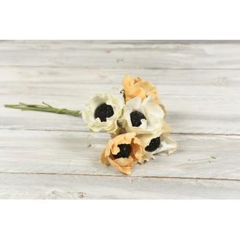 Υφασμάτινο μπουκέτο  λουλουδιών 6 τεμαχίων