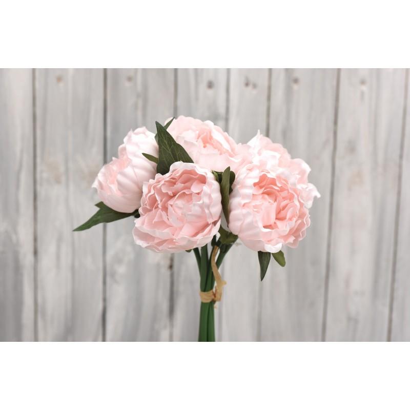 Μπουκέτο λουλουδιών παιώνια 30cm