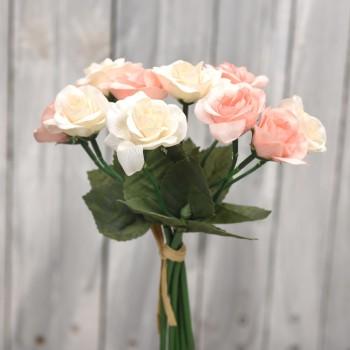 Μπουκέτο λουλουδιών τριαντάφυλλα 30cm
