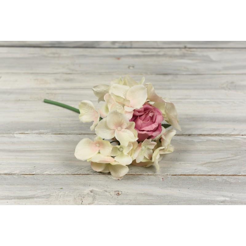 Μπουκέτο συνδυασμός λουλουδιών 25cm