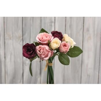 Μπουκέτο  με τριαντάφυλλα τρίχρωμο