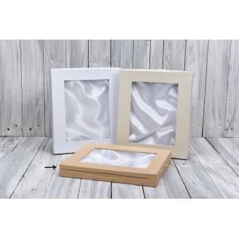 Κουτί διακόσμησης με φόδρα  κραφτ 30*35cm