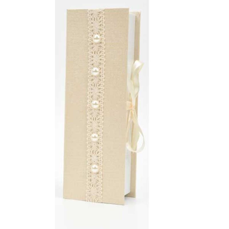 Κουτί μπομπονιέρας με σχέδιο και κορδέλα  22x7,5x5cm