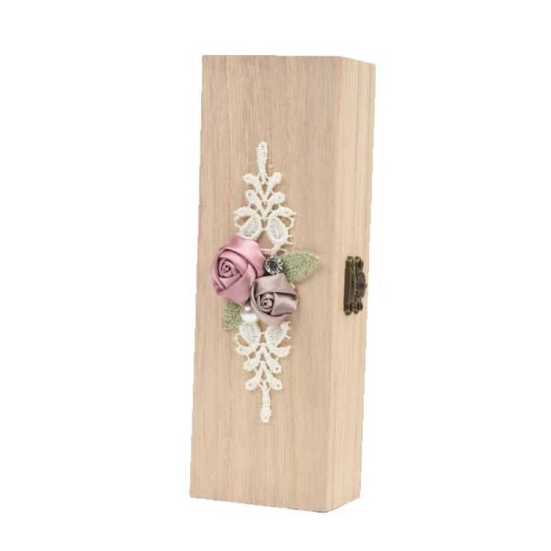 Κουτί μπομπονιέρας ξύλινο 20x7x4cm