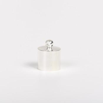 Μεταλλικός ακροδέκτης στρόγγυλος ασημί 2cm
