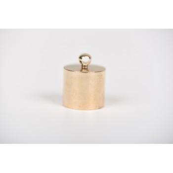 Μεταλλικός ακροδέκτης στρόγγυλος χρυσό 2cm