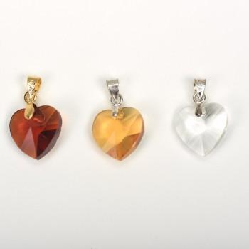 Ακρυλική χάντρα καρδιά 1.4cm