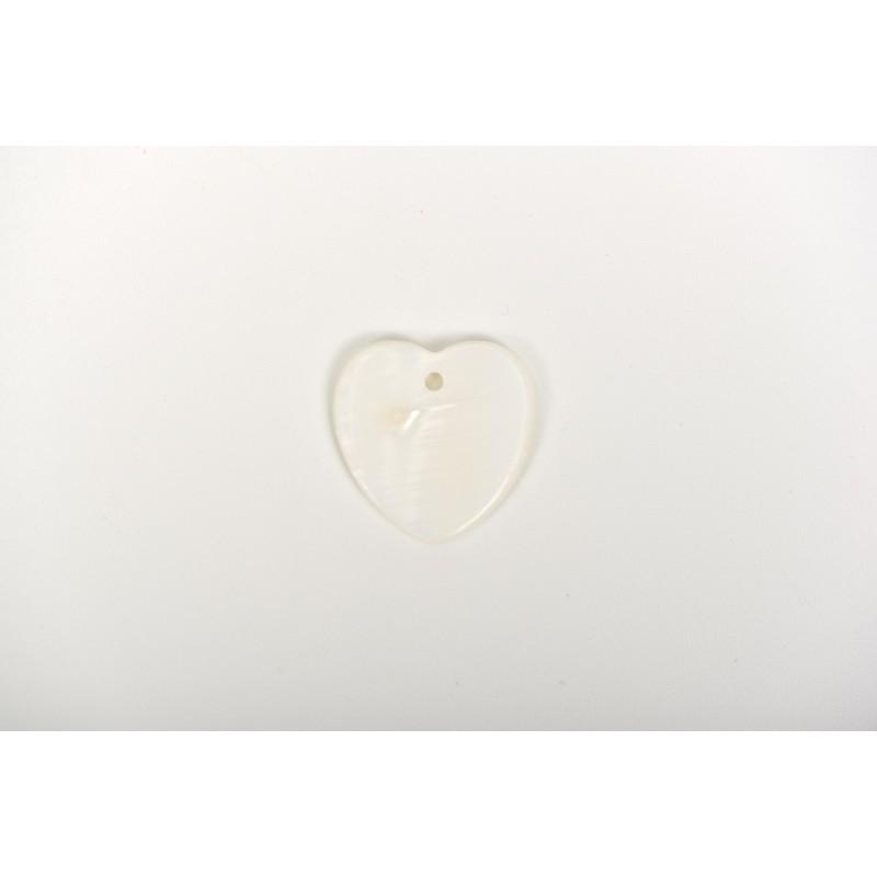 Πέρλα λευκή σχέδιο καρδιά 1,5cm
