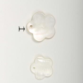 Πέρλα λευκή σχέδιο λουλούδι 2cm
