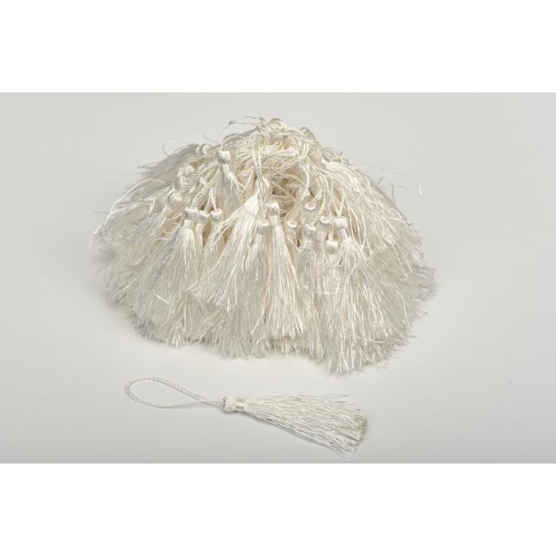 Φούντα διακοσμητική λευκή 100τεμ
