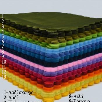 Μαντίλι οργαντίνα τετράγωνο  25Χ25cm συσκευασία 100 τεμαχίων