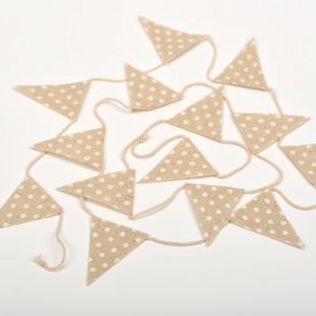 Σημαιάκια λινάτσα πουά 1,35 cm  9τμχ